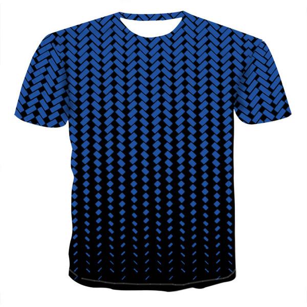 Графика Daily Vortex Vertigo Hypnotic 3D Синяя футболка Мужчины Лето Унисекс Смешная футболка с короткими рукавами Уличная одежда Новый стиль Плюс размер Желтый топ