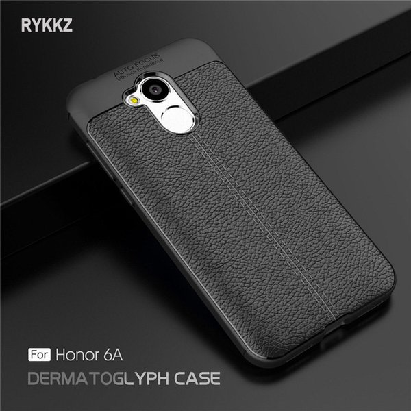 """Case On Honor 6a Luxury Soft Shockproof Leather Grained Tpu Back Cover For Coque Huawei Honor6a 6 A Dli-tl20 5.0"""" Phone Cases"""