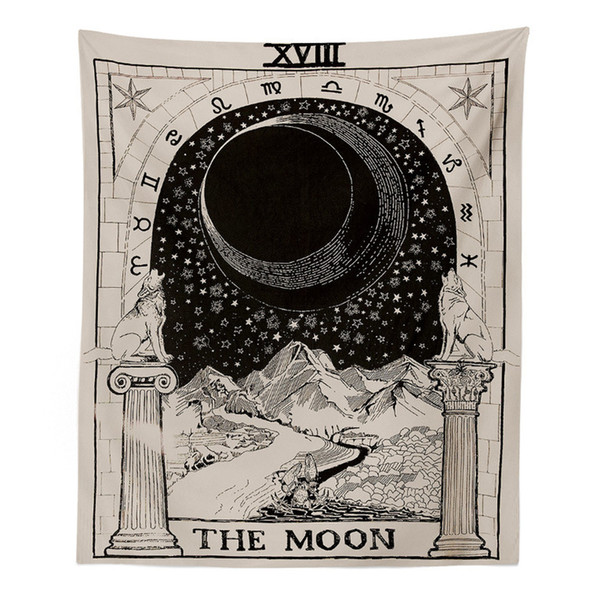 Hanging Tapestry Sun Star Moon Tapestry Wall Hanging Blanket Wall Carpet Yoga Mat Home Decor Hippie Yoga Mat