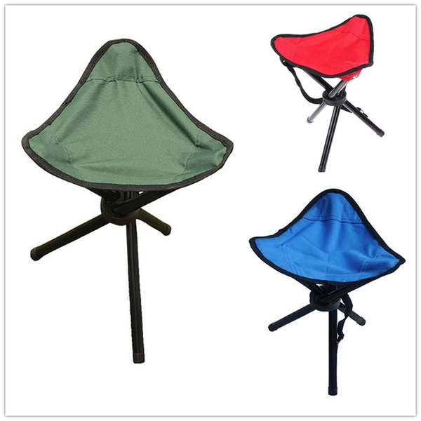 High Quality Outdoor Portable Chair Triangular Stool Three Legs Convenient Folding Fishing Chairs Strong Oxford Stools for Camping Picnic