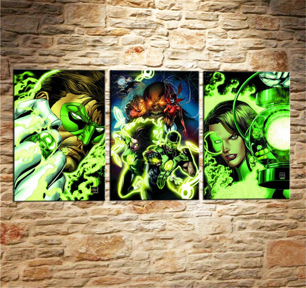 DC Rebirth. Green Lanterns,3 Pieces Home Decor HD Printed Modern Art Painting on Canvas (Unframed/Framed)