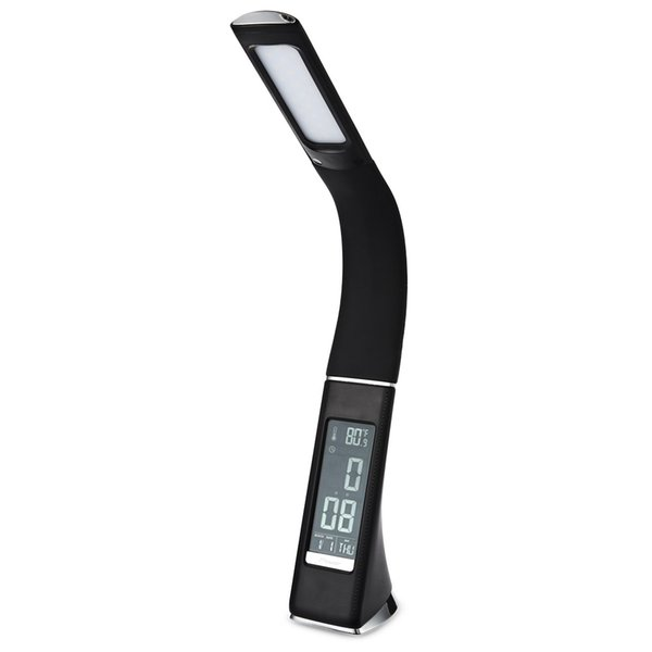 Lightme LED Schreibtischlampe 5W 200LM SMD 5730 Electronic VA Screen 3 Level Dimmbare LED Tischlampe Mit Kalender Temperatur Wecker Lamparas