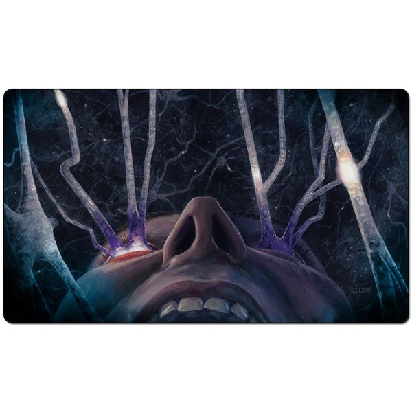 Magic Board Game Playmat:.Fevered Visions 60*35cm size Table Mat Mousepad Play Matwitch fantasy occult dark female wizard2Trial o