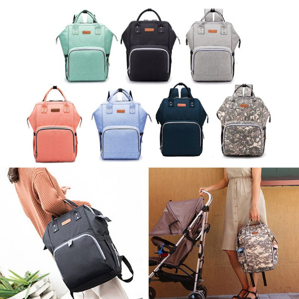 Diaper Bag Backpack Large Nappy Changing Baby Bag Waterproof Mommy Maternity Travel Backpack with Stroller Straps USB Charge