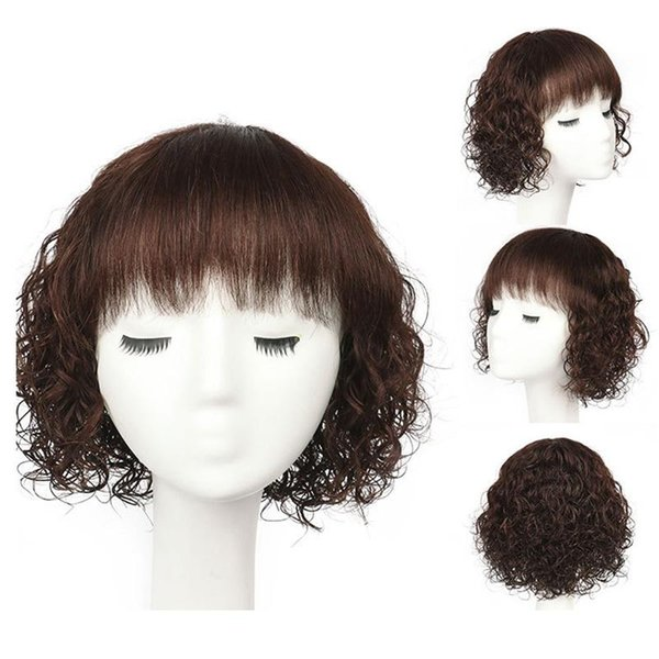 Medium Length Wet And Wavy Wave Wigs Brazilian Remy Human Hair Wigs For Black Women Dark Brown Natural Black wig Free Shipping