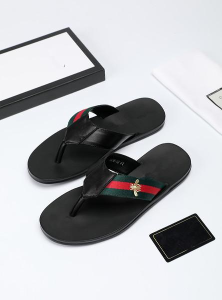Erkek Kadın Sandalet Tasarımcı Ayakkabı Yüksek Kaliteli Slayt Yaz Moda Geniş Düz Kaygan Sandalet Terlik Flip Flop boyutu 38-44 çiçek kutusu