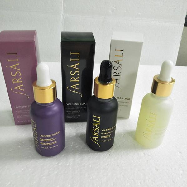 Ferramentas de Limpeza Farsali 24k Rose Gold Elixir Elixir Vulcânica Essência Irradiando Hidratante-BNIB-30ml óleo essencial para o rosto