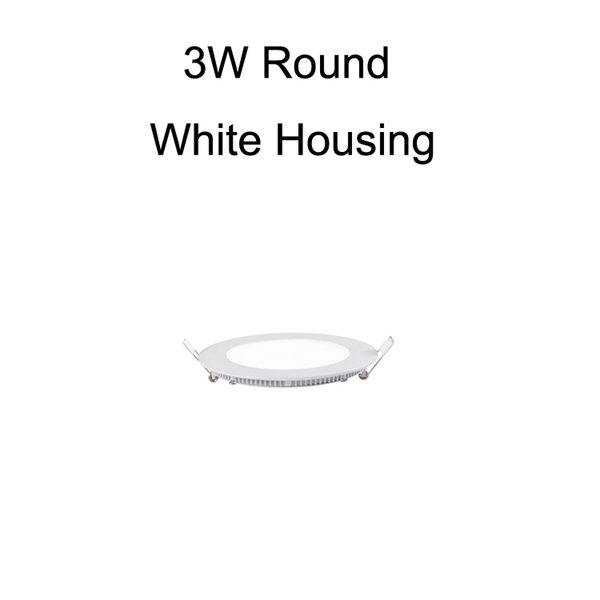 3W Round White Housing