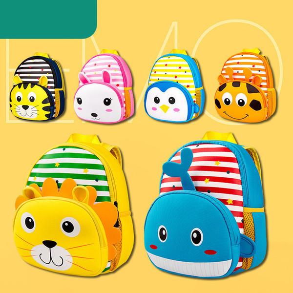 2019 Children's Waterproof 3d Cartoon School Bags Mochila Escolar 3-6 Years Old Boys Kids Animal Backpack School Bags For Girls