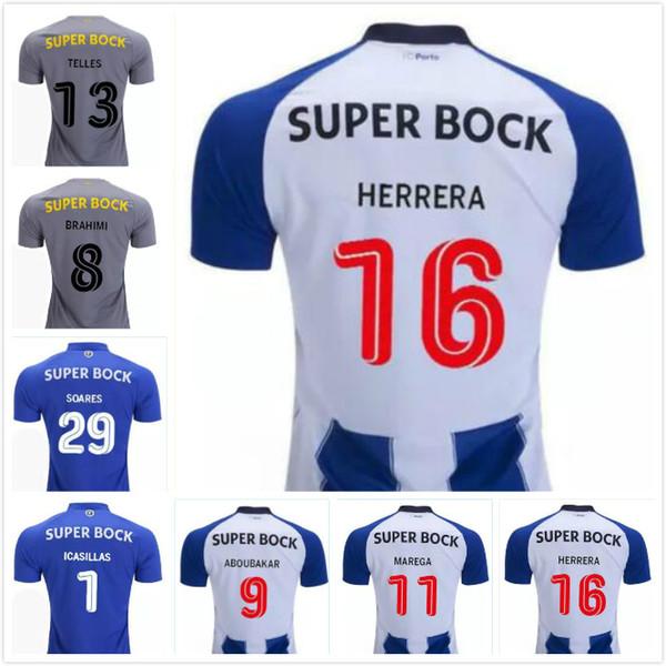 64d49724fb6 FC Porto Soccer Jersey 18/19 OLIVER MAREGA Home Away Football Shirt FELIPE  ABOUBAKAR BRAHIMI