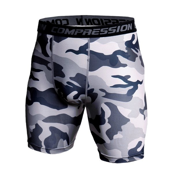 3d Camo Compression Shorts Men 2019 Short Pants Mma High Elastic Skinny Leggings Bodybuilding Tights Men Fitness Sweat Shorts