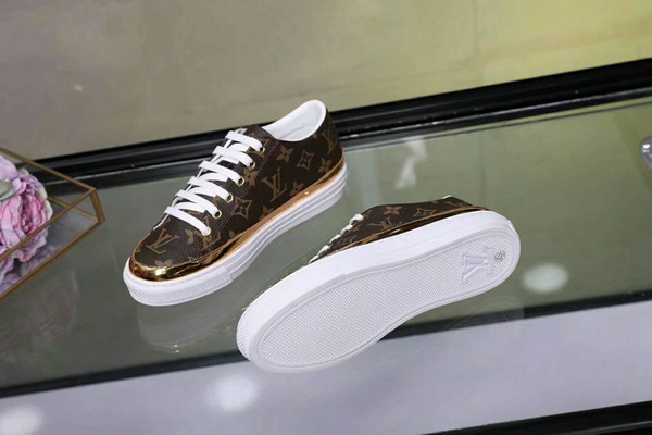 new ZL lady girl Party Wedding Shoes women brown suede with black spikes toe low top sneakers,design shoes