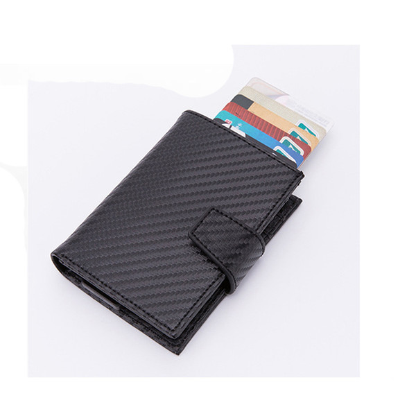 BYCOBECY Arrival PU Leather Holders Aluminum Women and Men 2019 New Vintage ID Wallets High Quality