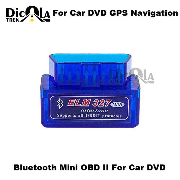 V2.1 Super mini elm327 Bluetooth OBD / OBD2 sans fil 2017 Dernière version Mini elm 327 Fonctionne sur Android Torque Livraison gratuite GPS