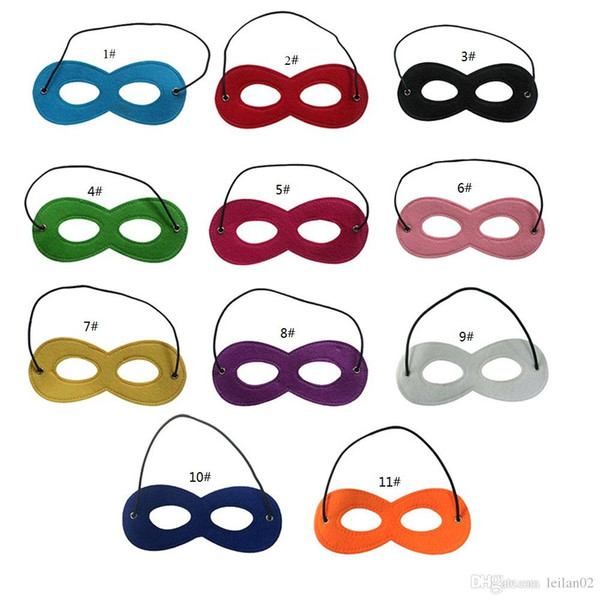 top popular solid color Superhero Masks Plain color party mask for kids and Adults Halloween Christmas costumes masquerade masks party favors gifts 2019