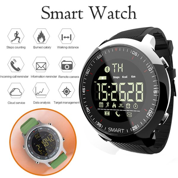 Smart Watch Men Sport Pedometers Bluetooth Professional Waterproof Swimming Mens Inteligente Connect Smartwatch For Ios Android MX190716