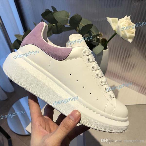 2019 Designer Hommes Femmes Fitness Chaussures Casual femmes des nouveaux hommes de mode blanc Chaussures en cuir confortables chaussures plates Casual 35-45 avec la boîte