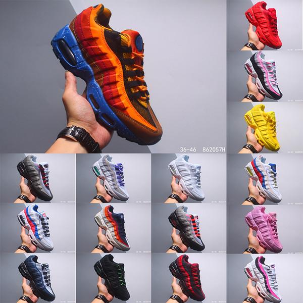 StockX 2020 chaussures femmes des nouveaux hommes de sport classique Noir Rouge Blanc Entraîneur Coussin de surface respirant sport Sneakers Chaussures de course 36-46