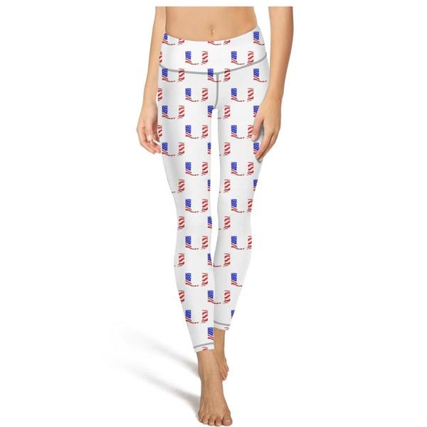 Miami Hurricanes football USA flag Yoga Pants Women's Tummy control Yoga Pants Plus size yoga leggings Sport soft designer Leggings