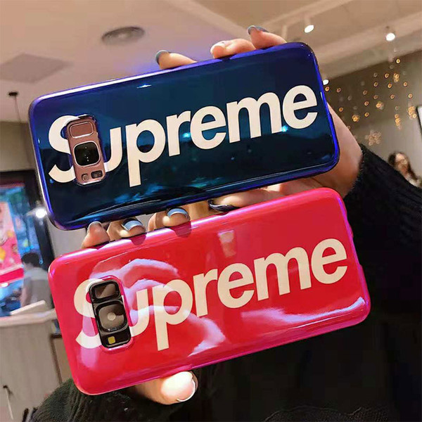 One Piece For iPhone XS MAX Luxury Laser Soft TPU Fashion Designer Phone Case For Samsung S8 S9 Plus NOTE 8 9 Back Cover