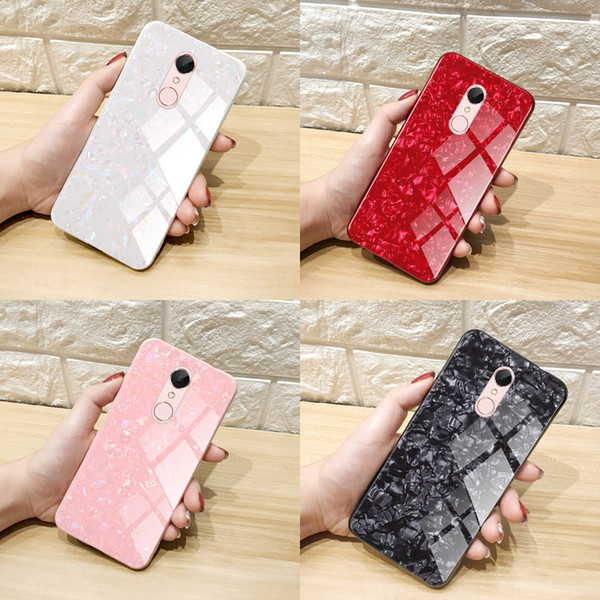 RedMi 5 5Plus Note5 S2 6 6A 6Pro Note 6 Coque En Verre Coquillage Xiami RedMi Série Cas De Téléphone En Verre Trempé Cas De Téléphone