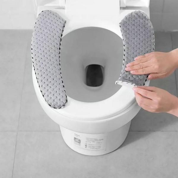 Bathroom Toilet Seat Cushion Closestool Washable Soft Warmer Mat Pad toilet seat toilet seat