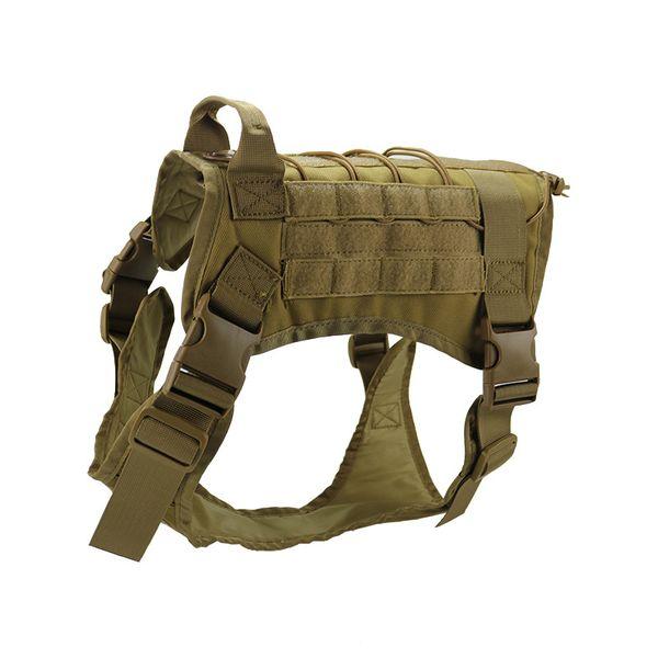 Hot Selling 3 Colors K9 Tactical Training Dog Harness Military Adjustable Molle 1000D Nylon Vest Dog Apparel M/L/XL M85F