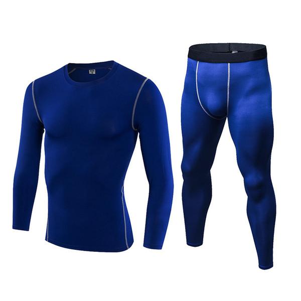 2019 Brand New Homens Camisa de Fitness Sportswear Masculino Correndo Treinamento Plus Size Calças Justas Preto GINÁSIO Do Esporte Terno de Compressão Em Execução conjunto