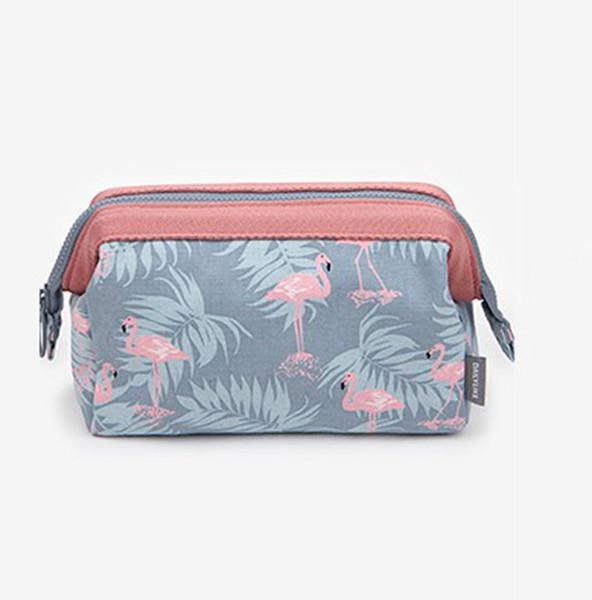 Flamingo Cosmetic Bags Women Travel Large Capacity Portable Make Up Bag Waterproof Toiletry Bag Multifunction Storage Organizer