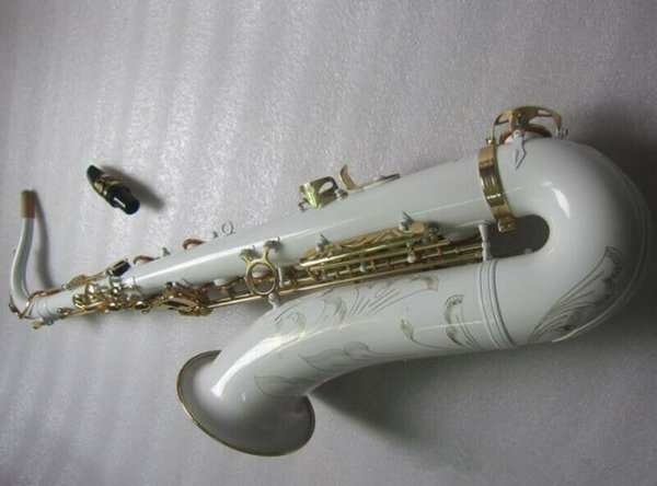Bb Tenor Saxophone Silver Plated Body Gold Lacquer Key with Case Accessories