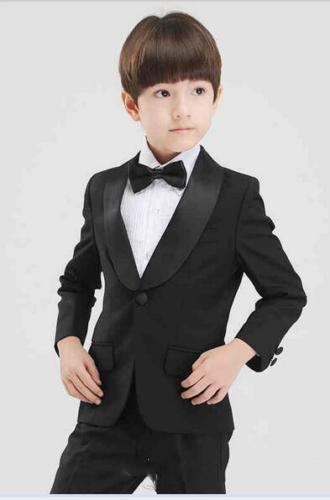 Handsome One Button Shawl Lapel Kid Complete Designer Handsome Boy Wedding Suit Boys' Attire Custom-made (Jacket+Pants+Tie) A03