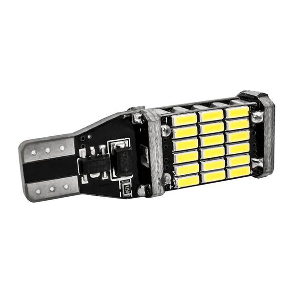 10x High Quality T15 921 W16W 45 SMD 4014 LED Auto Additional Brake Lamp Backup Reverse Lights Car Daytime Running Light White DC12V