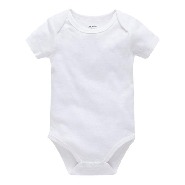 Mass purchasing baby rompers 100% cotton white infants bodysuit newborn baby boys girls onesies de bebes clothing accept ODM