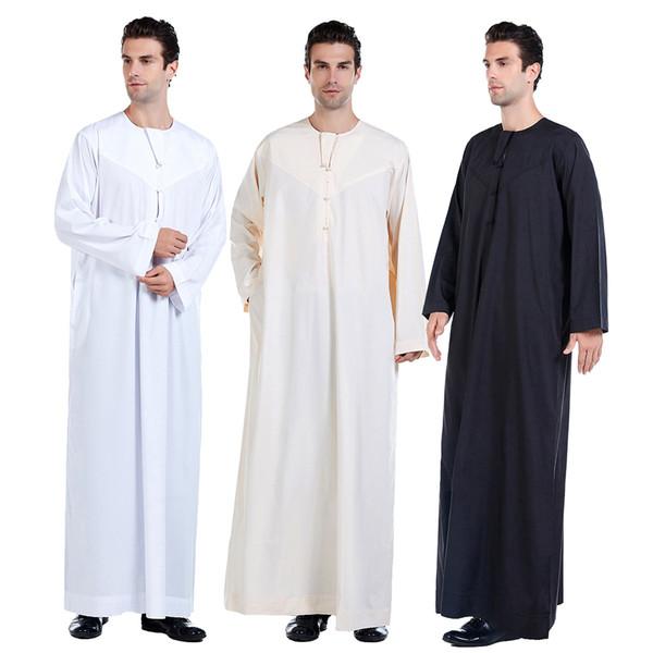 TH817 muçulmana New Style Homens Robes Hui Nacionalidade Roupa Islam para Culto New Style