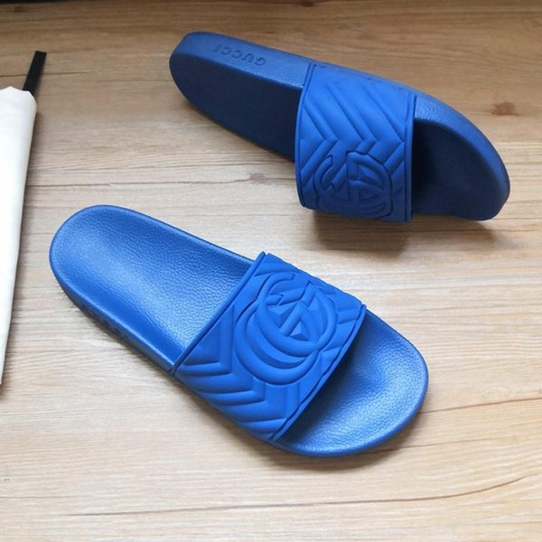 top popular New matelasse rubber slide designer shoes 602067 men's slippers slide fashion casual sandals 2020