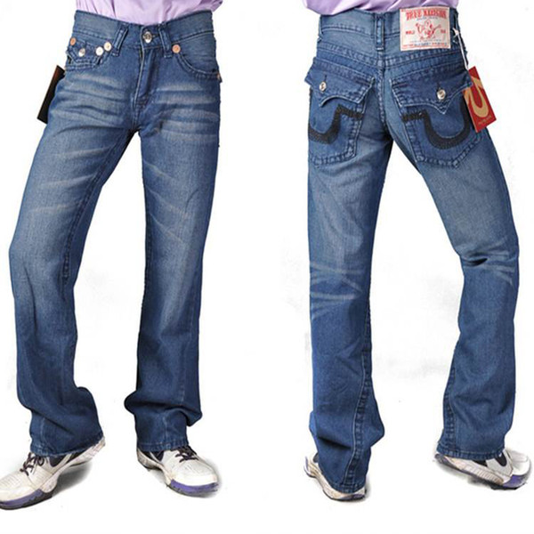 best selling designer True mens jeans Distressed Ripped Skinny Trousers luxury clothes Fashion Slim Motorcycle Moto Biker Causal Men Hip Hop Pants Denim