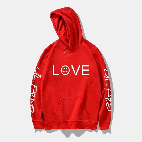 Pink Black Love Letter Printing Hoodies Mens Pullover Sweatshirt Casual Hoody Spring Autumn Men/women Hoodie Brand Streetwear