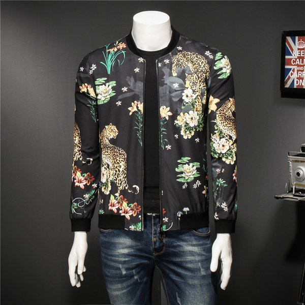 Mens Pattern Jacket Fashion Print Male Jacket Classic Designer Bomber Jackets Men Party Club Outfit Men Oversize 5xl
