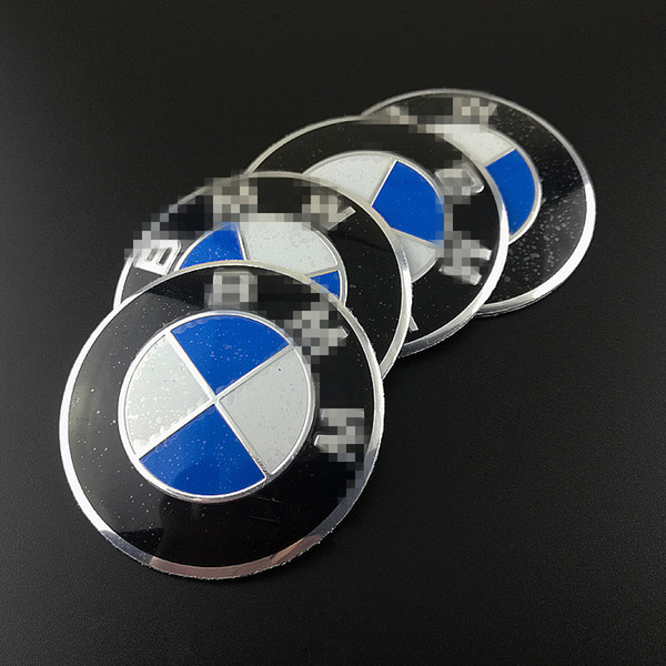 best selling 56 mm Blue and White Emblem Sticker for BMW BMW Wheel Hub Cap Decal Hub Cover Stickers