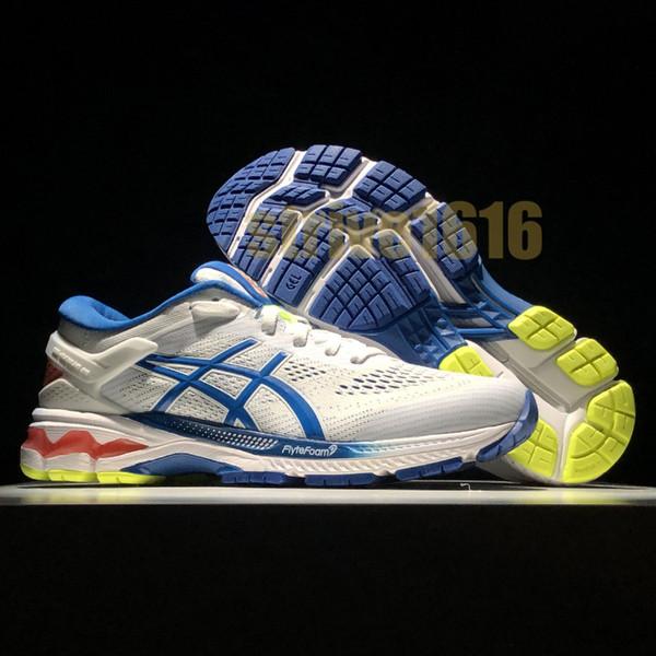 Großhandel 2019 Asics Kayano 26 Sport Herren Laufschuhe Beste Qualität Schwarz Weiß Herren Sport Kissen Sneaker Designer Schuhe Größe 40 45 Von