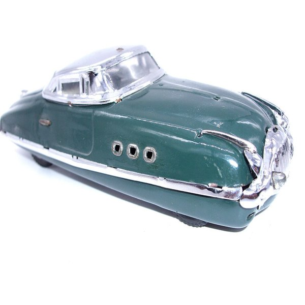 [TOP] Adult Collection Retro Wind up toy Metal Tin Old Vintage sports car Mechanical Clockwork toy figures model kids gift