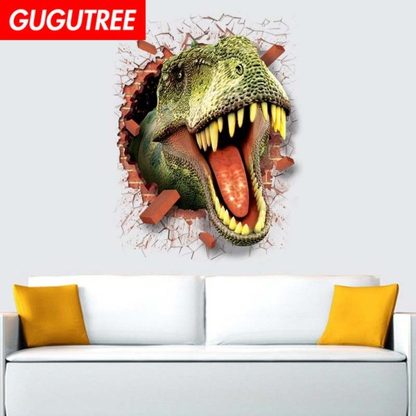 Decorate home 3D dinosaur cartoon art wall sticker decoration Decals mural painting Removable Decor Wallpaper G-823