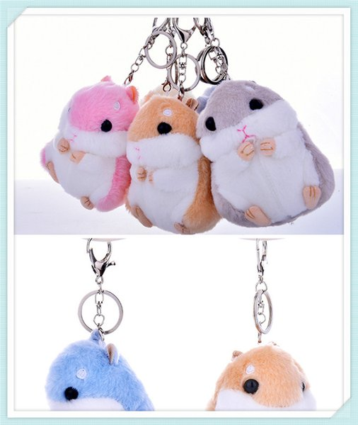 20170601 12cm New Doll Animal stuffed Mouse Key chain Toy Action Figures For Children Brithday Gifts