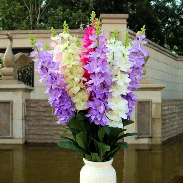 Emulazione Giacinto qualità larkspur falso fiore di seta a singolo ramo alto ramo ramo lungo viola decorazione fornire domestico Nuovo stile nuovo