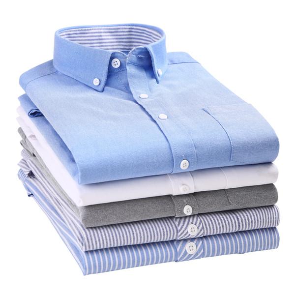 Liseaven Nouvelle Arrivée Hommes Chemises Casual Manches Longues Chemise Unie Slim Fit Homme Affaires Sociales Robe Chemise Marque Hommes Vêtements