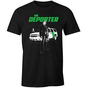Trump The Deporter Funny Transporter Spoof Immigration Men's T Shirt Made in USA