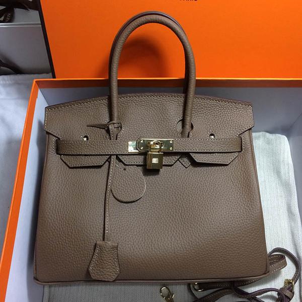 Çanta tasarımcısı hakiki deri H K kadın lüks çanta moda kılıf litchi desen tasarımcı çanta bayan çanta çanta
