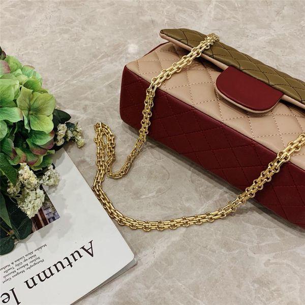 Kadınlar Lüks omuz çantaları pürüzsüz deri crossbody çanta zincir üzerinde mükemmel cüzdan yumuşak kabuk çanta 25 cm geniş maliyet fiyatları sa1e