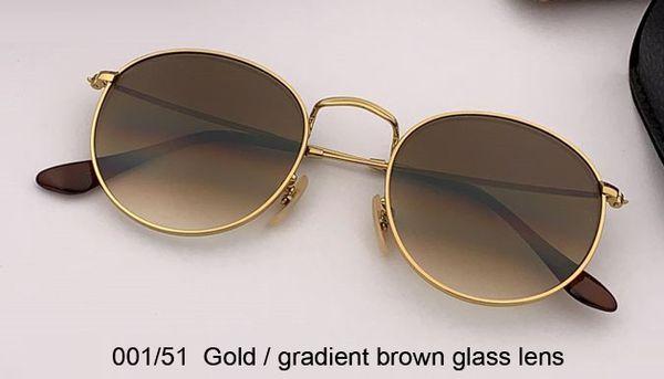 001/51 gold/gradient brown lens