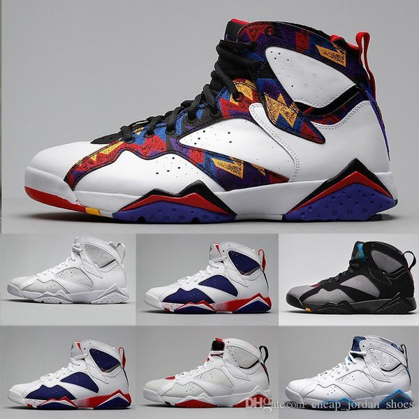 7 7s Basketball Shoes Men French Blue Bordeaux Tinker Alternate Olympic Pure Money Sweater Hare Sports Shoes Trainer Sneakers Eur 41-47